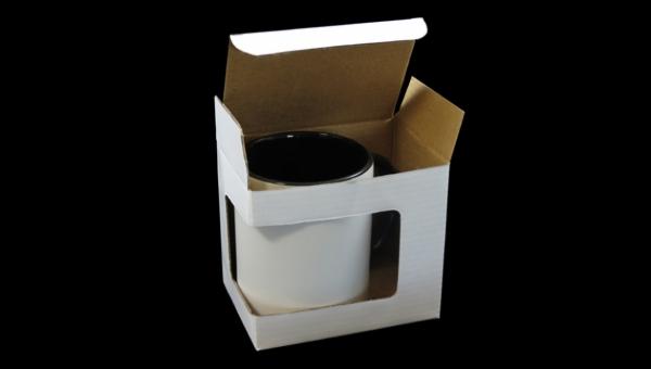 Mug Cardboard Box With Window Hisp 225 Nica Design