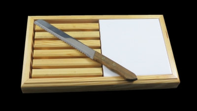 Image for BREAD CUTTER WITH KNIFE 15X15