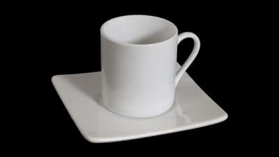 Image for COFFEE CUP SET STRAIGHT SQUARE PLATE
