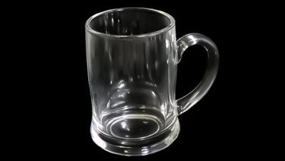 Image for GLASS BEER MUG GLITTER