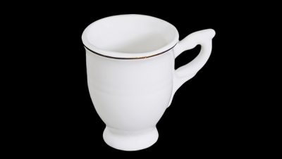 Image for MINI PORCELAIN POT WITH GOLD EDGE