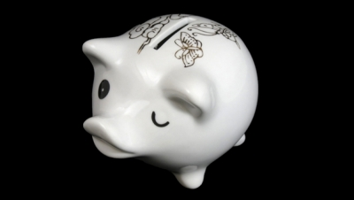 Image for PIGGY BANK WITH GOLD