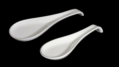 Image for SPOON RESTS WITH GOLD EDGE