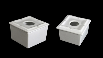 Image for SQUARE SHAPED WATER ASHTRAY WITH PVC