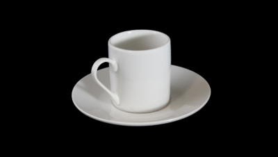 Image for STRAIGHT CUP WITH ROUND DISH COFFEE SET