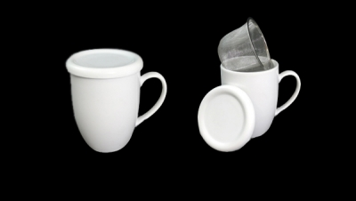 Image for TISANE WITH LID AND METAL FILTER (ROUND)