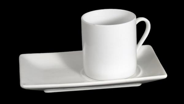 Juego de caf taza recta con plato hisp nica design for Juego tazas cafe