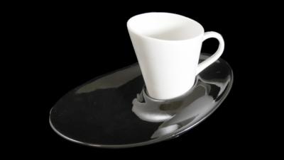 Imágen para JUEGO DE CAFÉ GÓNDOLA - NEGRO