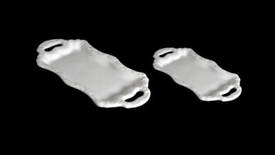 Image pour PLATEAU RECTANGULAIRE À POIGNÉES